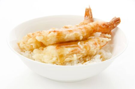 Ebi Tendon, Shrimps tempura rice bowl