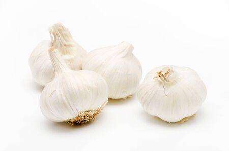 Fresh garlic on a white background Zdjęcie Seryjne