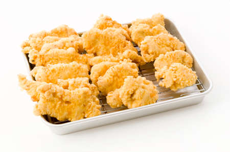Fried chicken in Japanese cooking style called as tori tempura