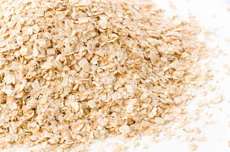 Oatmeal on a white background