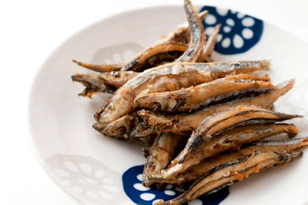 Japanese food, Kibinago, Deep-fried Silver-stripe round herring