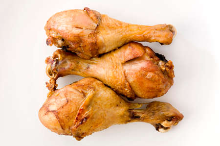 Grill Chicken Legs on white background Standard-Bild