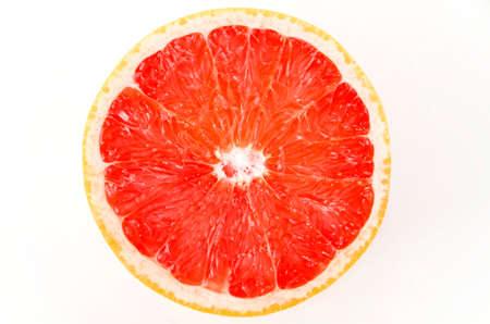 Grapefruit slice. Grapefruit on a white background.