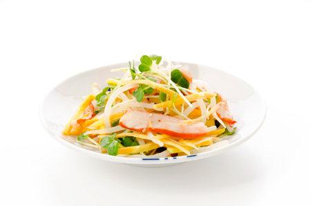 Japanese food, Aemono, Seasoned squid and vegetable 版權商用圖片 - 161303477