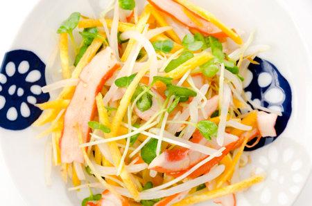 Japanese food, Aemono, Seasoned squid and vegetable