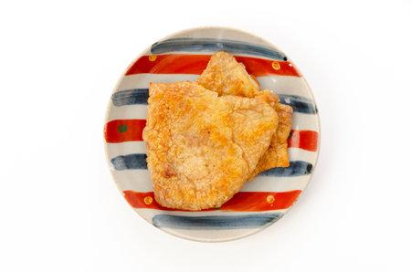 Crispy Fried Chicken Skins on Plate