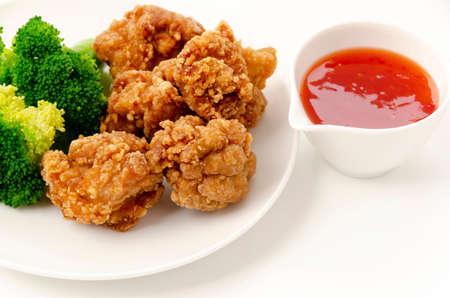 "Japanese food, ""Karaage"" Fried chicken japanese style"