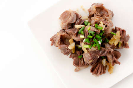 Japanese food, chicken gizzard and ginger stir fried