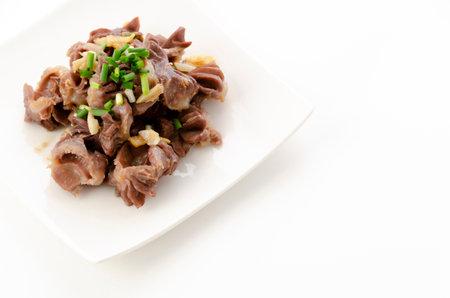 Japanese food, chicken gizzard and ginger stir fried 版權商用圖片 - 161303599