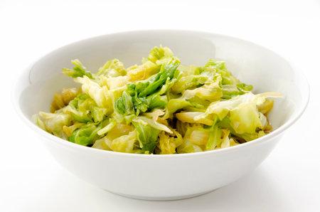 Stir-Fried Cabbage with garlic and ginger 版權商用圖片 - 161252538