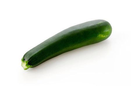 fresh raw zucchini on a white background