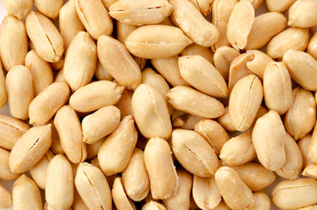 closeup Roasted salted peanuts background