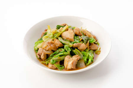 Stir-fried chicken with soybean paste Banco de Imagens