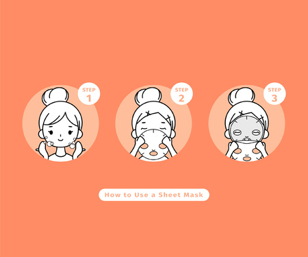 Comment utiliser un masque en feuille, procédure de masque