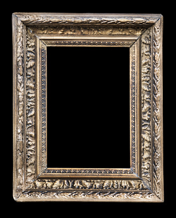 Vintage frames with an ornament isolated on black. Retro style.
