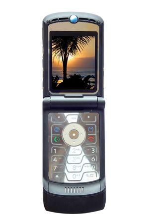 A nice black mobile phone - Palm Beach Display Stock Photo - 894117