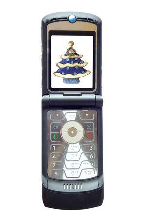 A nice black mobile phone - Christmas display photo