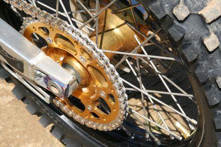 Motocross Bike - Details - Wheel Stock Photo - 1254410