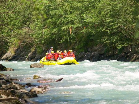 upstream: river rafting