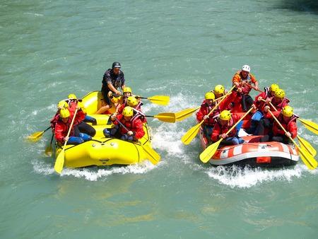 downstream: river rafting