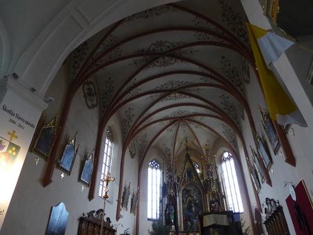 Church interior in Novo Mesto Slovenija