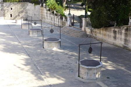 wells: Zadar Jadera Idassa Five Wells Stock Photo