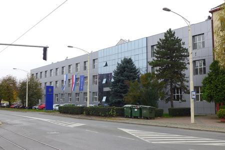 quartier g�n�ral: Si�ge Saponia Osijek en Croatie �ditoriale