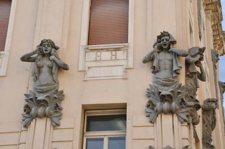 fasade: Facade Decoration on the Wall in Split Croatia