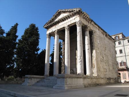 augustus: Temple of Augustus in Pula Pola Croatia Square City Center