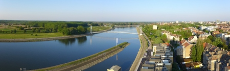 drava: Panorama Osijek Slavonia Slavonija Croatia Drava Stock Photo