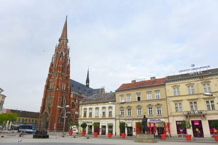 paulus: Cathedral Saint Peter and Paulus Tower in Osijek Croatia Sveti Petar i Pavle Hrvatska