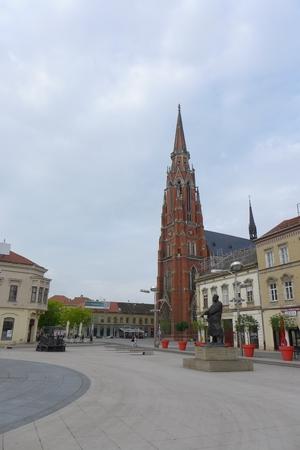 paulus: Cathedral Saint Peter and Paulus Tower in Osijek Croatia Hrvatska Sveti Petar i Pavle Editorial