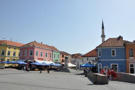 bosnia and hercegovina: Bosna Bosnia Tuzla Soli Square Mosque Color Colour House Home Water Fountain