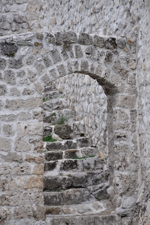 bosna: Bosna Bosnia Travnik Old Town City Arcade Door Stone