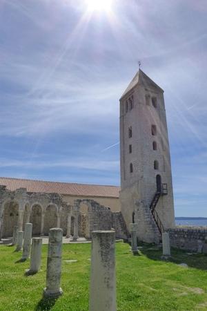 evangelist: Church park in Rab Saint Ivan Evangelist Arba Croatia