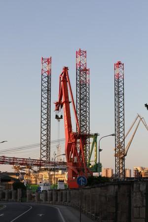 Ship Boat Construction Crane Pula Pola Croatia Hrvatska