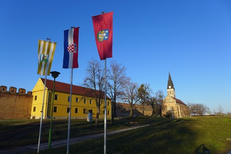Ilok East Slavonija Slavonia Flag Dunav Church Burg Croatia