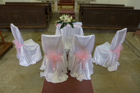 Hum Smallest City in the World Church Wedding Stock Photo