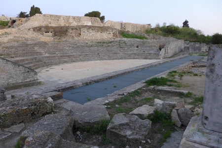 Small Theatar Antic Pula Pola Tourist Attraction Croatia