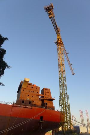 Ship Boat Building Construction Pula Pola Croatia