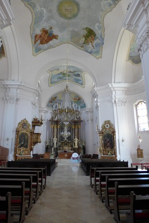 Interior Požega Cathedral Church Croatia Slavonia Slavonija Hrvatska