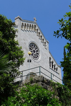 Exterior of the Church of Annunciation of the Blessed Virgin Mary Opatija Croatia