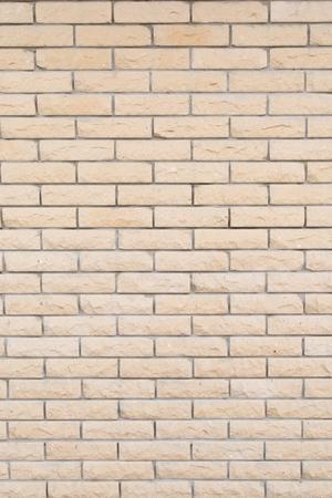old brick wall: Background of the white brick wall with horizontal masonry, vertical shot Stock Photo