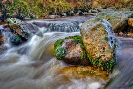 bubbling: Bubbling stream and rock pool with ice