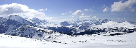 rockies:  Snowy Mountain Panoramic