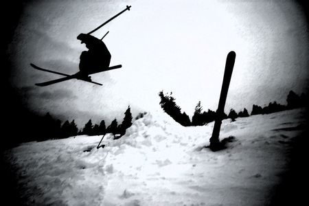 Extreme Skiing Stock Photo - 304031