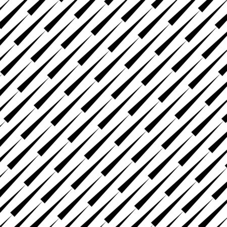 Black oblique triangles on a white background. Geometric art. Trendy design element for prints, web pages, template, presentation, posters and monochrome pattern