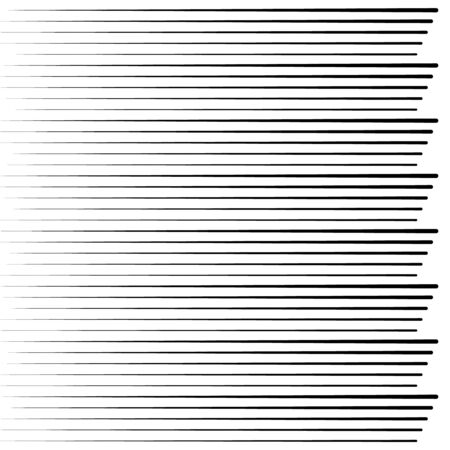 Speed abstract black lines in arrow form. Geometric art. Vector illustration. Trendy design element for prints, web pages, template, posters, monochrome backgrounds and pattern Ilustração