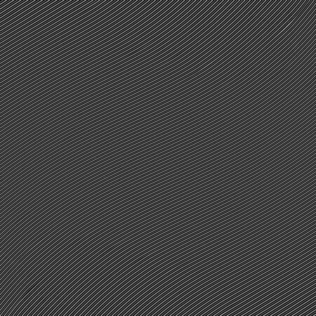 Oblique white wavy lines on a black background.Vector illustration. Diagonal monochrome pattern. Design element for prints, web pages, template, posters and background