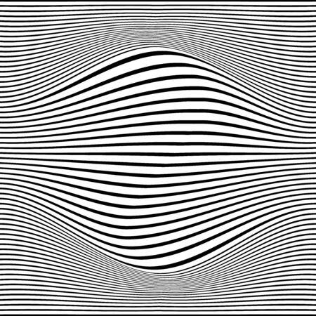 Black wavy lines. White background. Vector illustration. Design element for prints, web pages, template, posters and monochrome pattern Векторная Иллюстрация